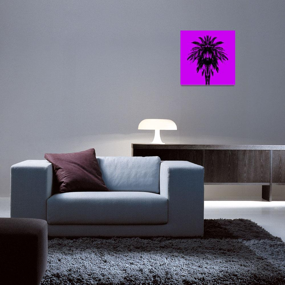 """Palm Tree - Purple Sky""  (2015) by e_morningstar"