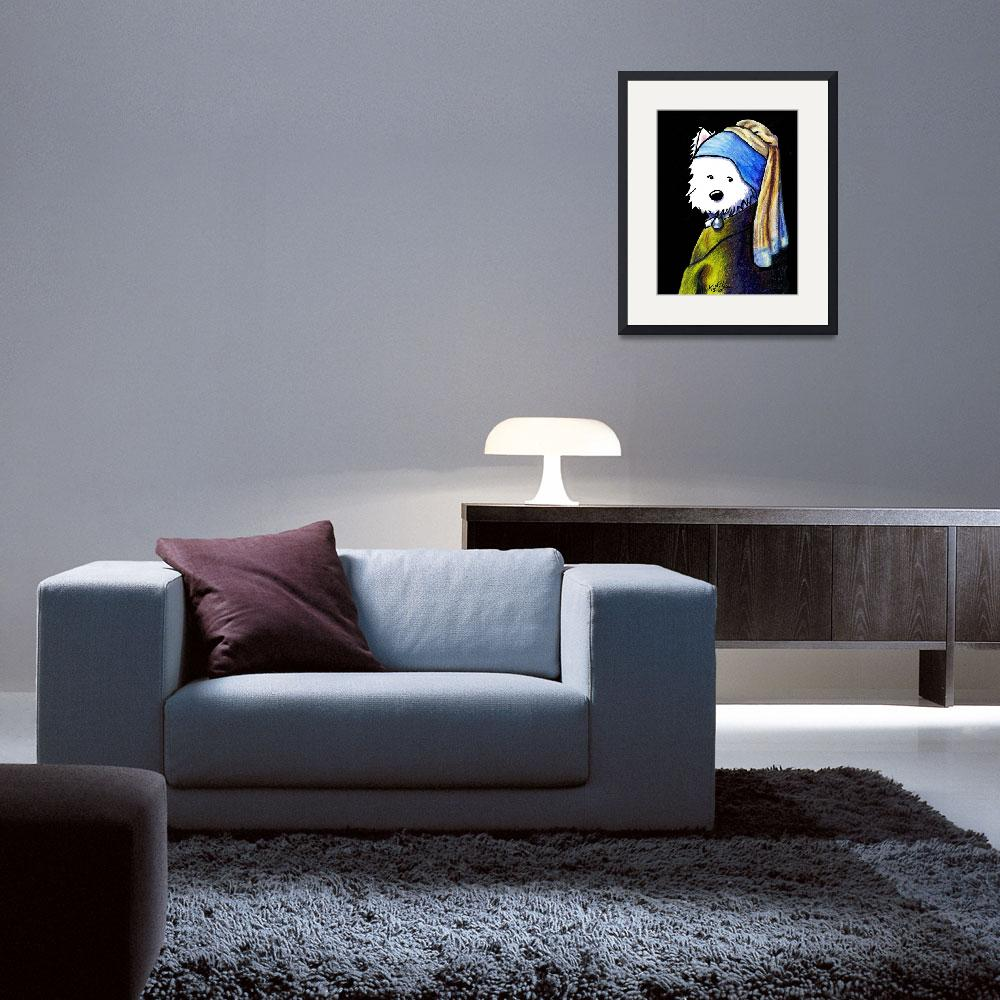 """""""KiniArt Girl With A Pearl Earring&quot  (2007) by KiniArt"""
