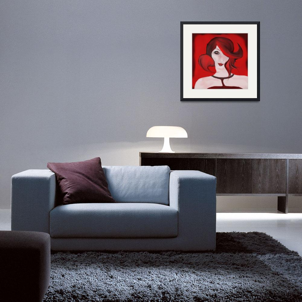 """""""Red Girl&quot  (2009) by gina1881996"""