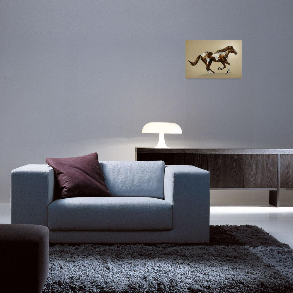 """""""horse_poster_PINTO&quot  (2012) by nicktubbs"""