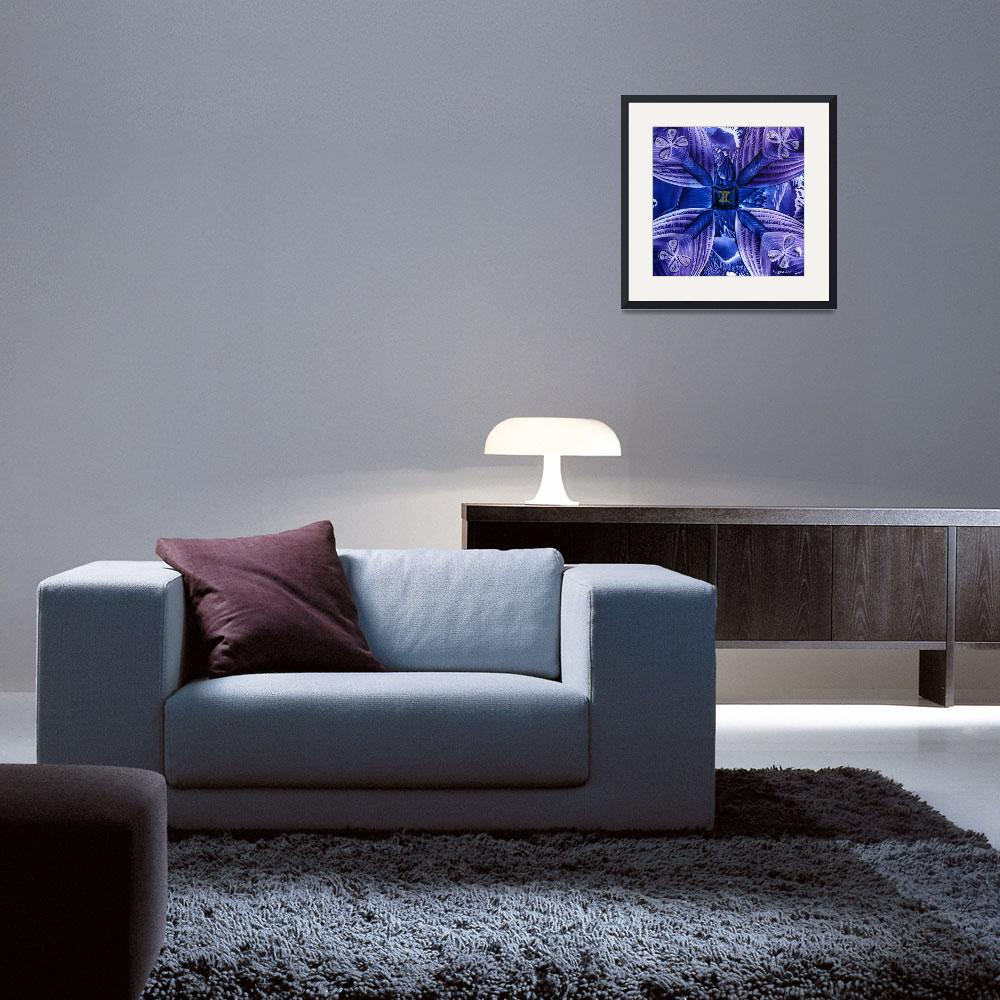 """""""Gemini Abstract in Purple & Blue&quot  (2010) by HarvestMoon"""