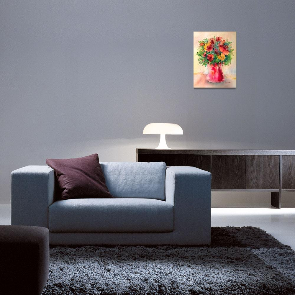 """""""Floral Still Life&quot  (2012) by awagner"""