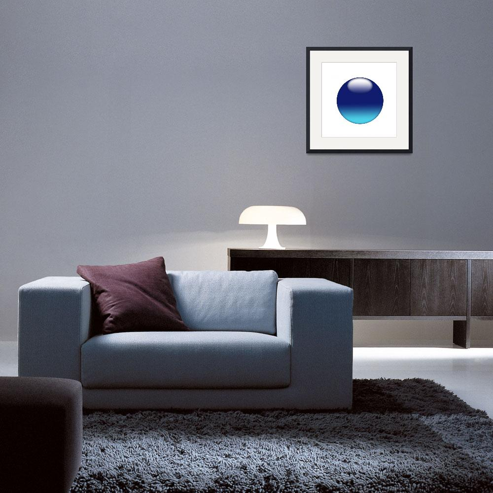 """""""Blue sphere on white background&quot  (2010) by Bayardo"""