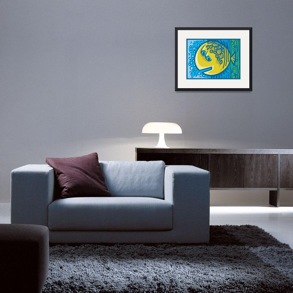 """""""Abstract Fish&quot  (2008) by Teeprintz"""