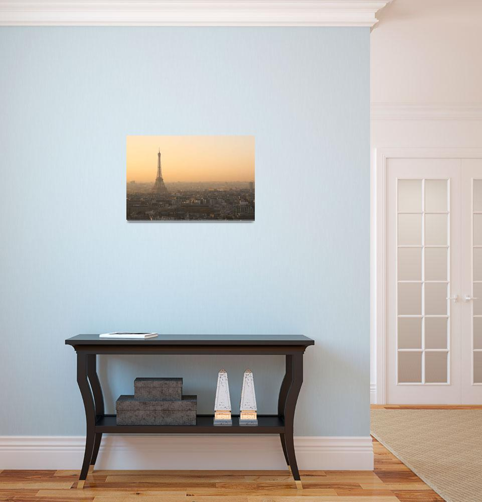"""""""Eiffel Tower at sunrise""""  (2007) by limelight"""