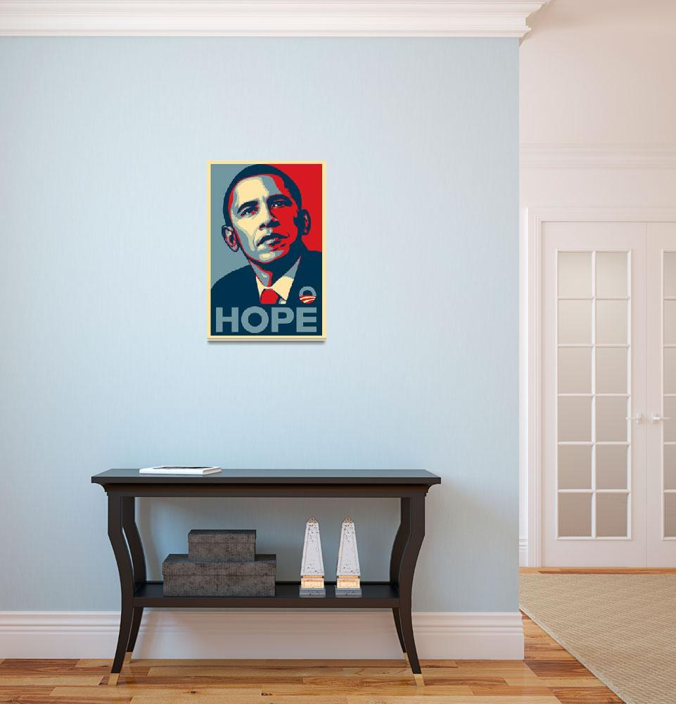 """""""Barack Obama Hope&quot  (2008) by paint"""
