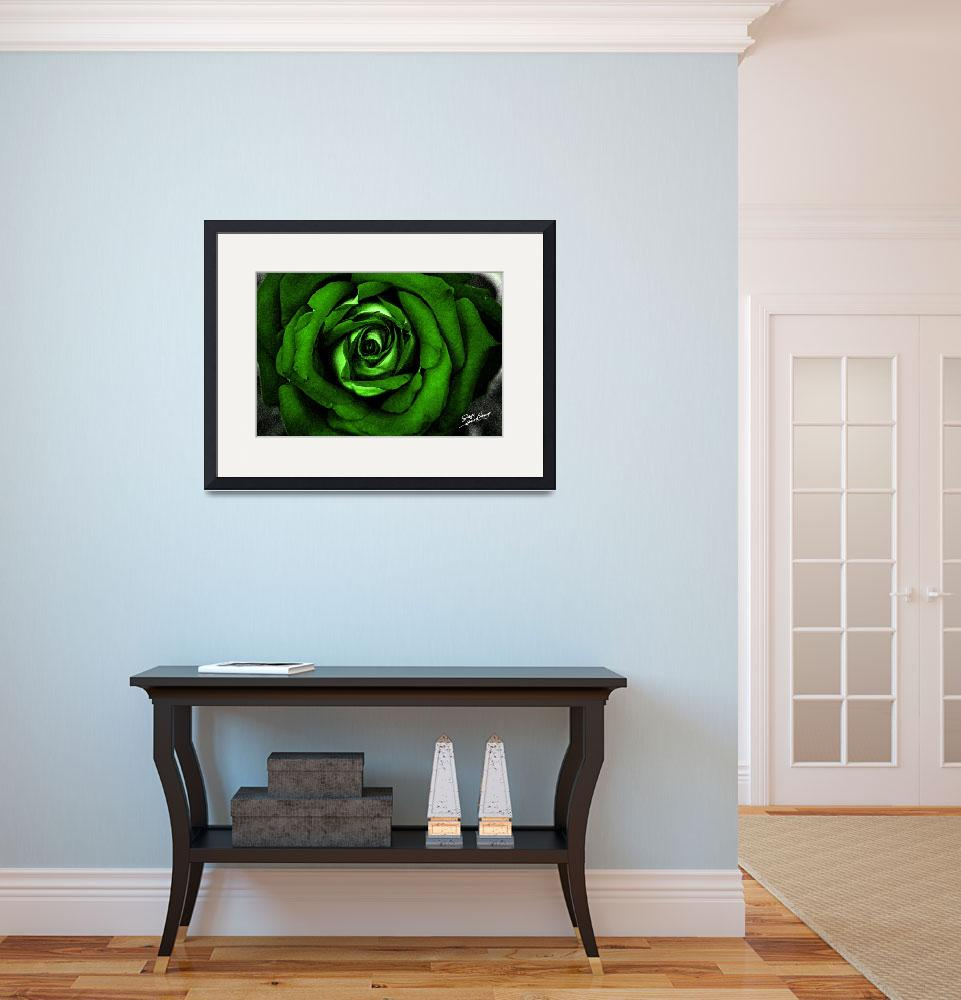 """""""Watercolor Rose Green&quot  (2012) by SouthIdahoPhoto"""