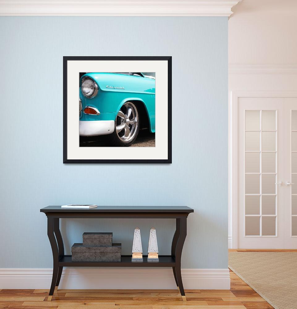"""""""Chevy Baby Blue Muscle&quot  (2013) by scubagirlamy"""