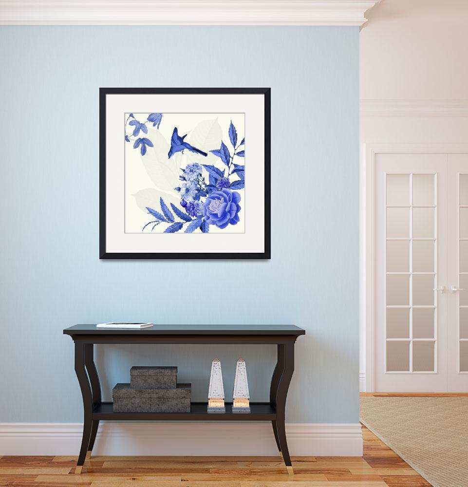 """""""China Flower Blue and white&quot  (2015) by BDspace"""