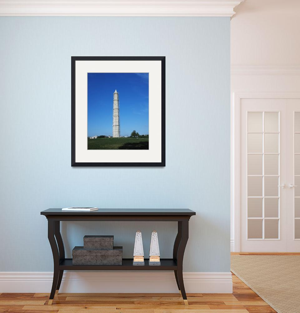 """""""Washington Monument with new scaffold&quot  (2013) by TOMSHEA"""
