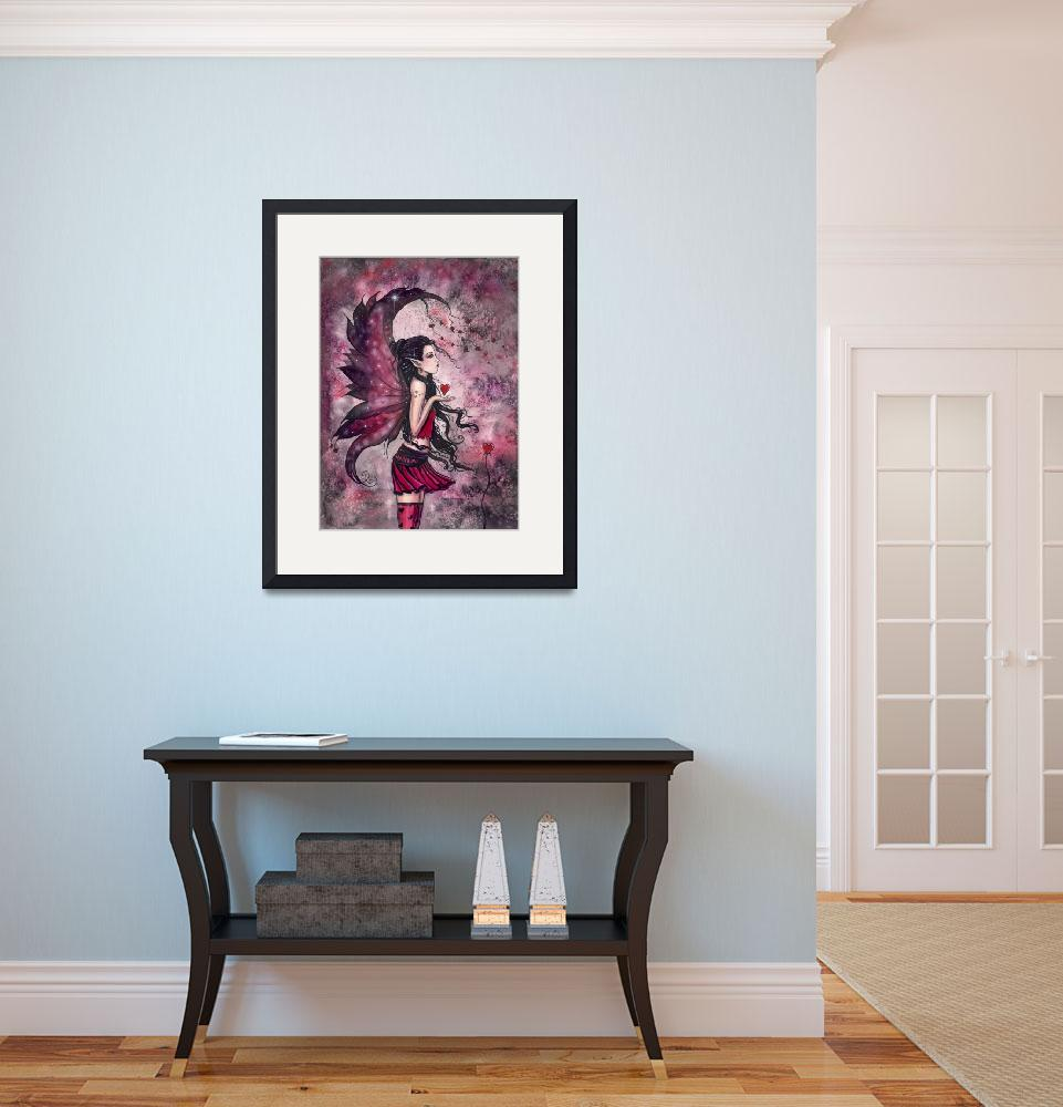 """""""Hearts Red Heart Fairy Fantasy Art Print by Molly&quot  by robmolily"""