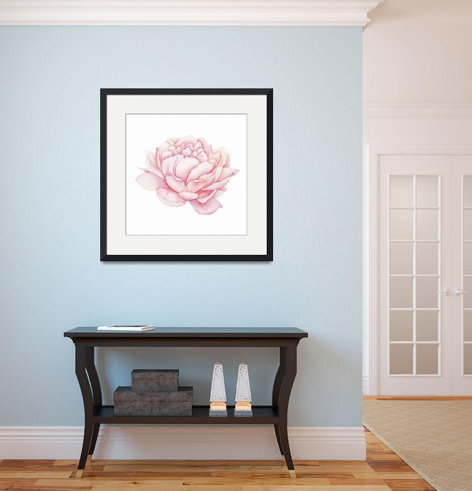 """""""Pink Peony Watercolor""""  (2018) by taylansoyturk"""