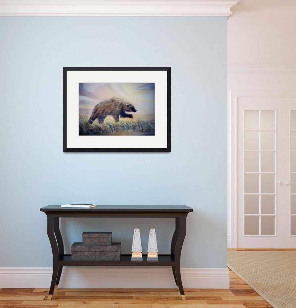 """""""Bear on the move&quot  (1989) by SusieQArt"""