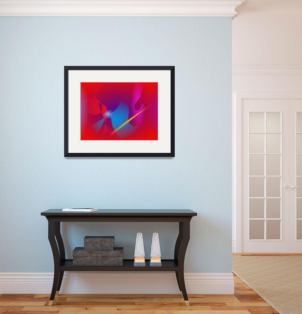 """""""Vivid Red Simple Abstract Design""""  (2014) by masabo"""