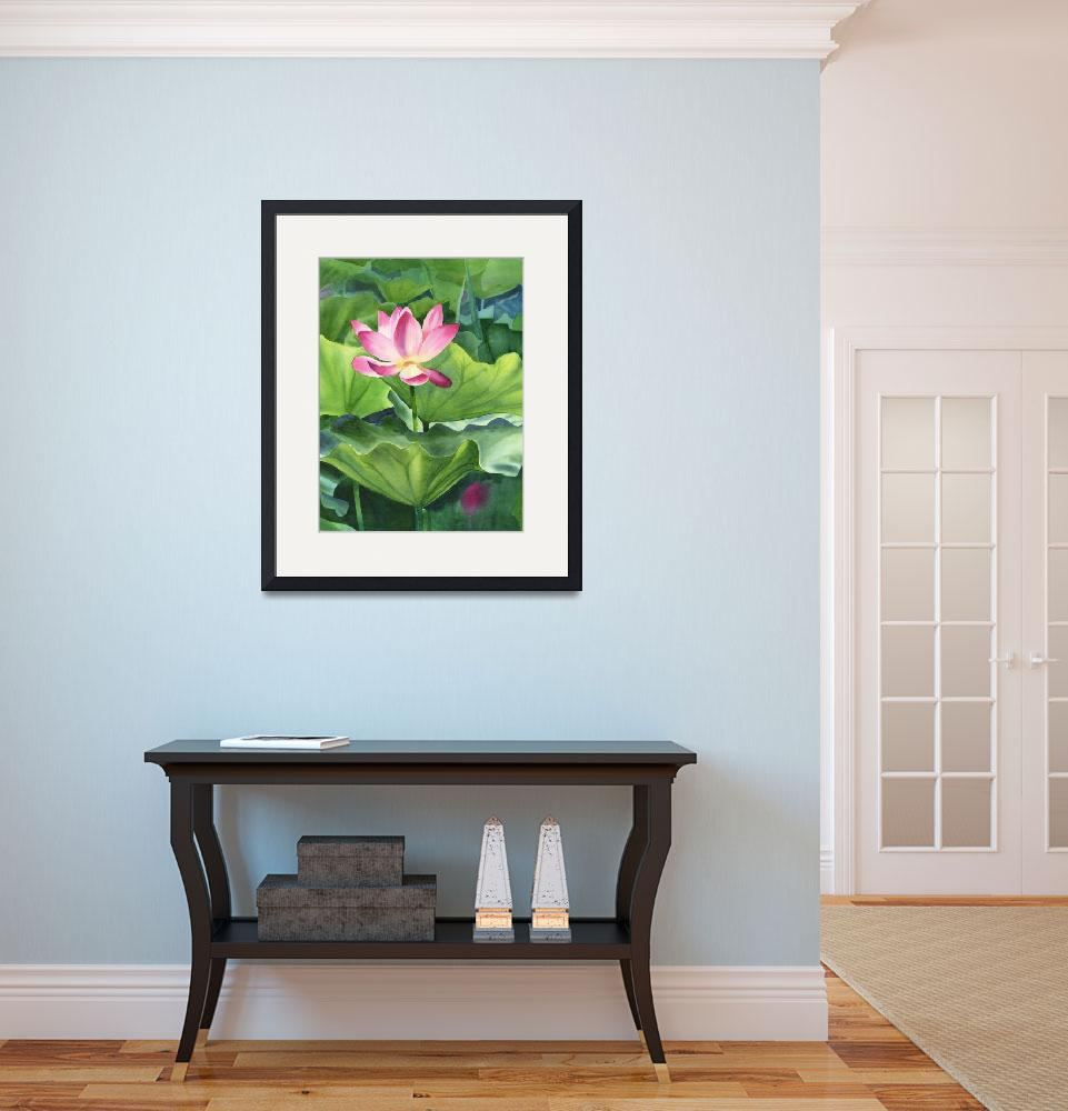 """""""Magenta Colored Lotus Blossom""""  (2008) by Pacific-NW-Watercolors"""