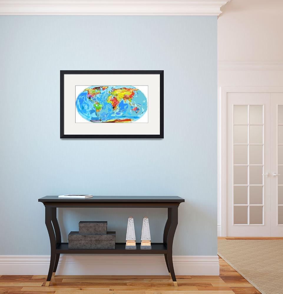 """""""World Ocean Currents Map&quot  (2012) by DavidLloydGlover"""