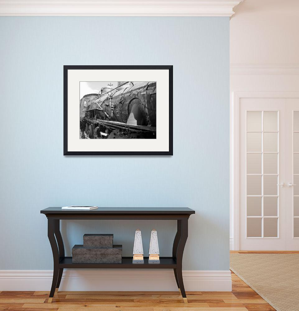 """Train Locomotive - Vintage&quot  (2008) by Philippa"