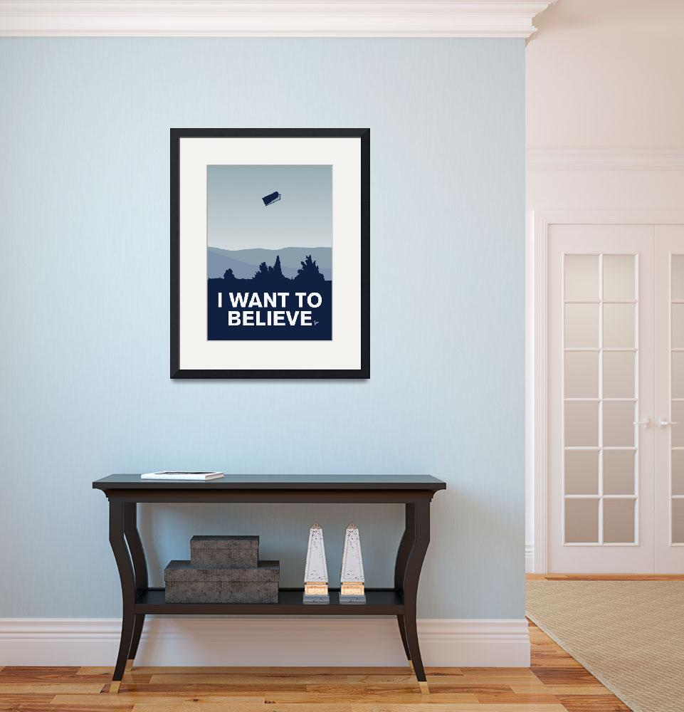 """""""My I want to believe minimal poster-tardis&quot  by Chungkong"""