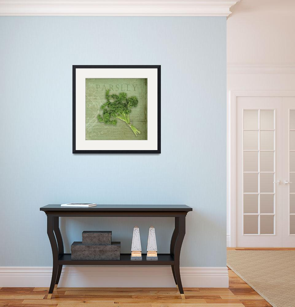 """""""Classic herbs series: Parsley&quot  (2012) by CoraNiele"""