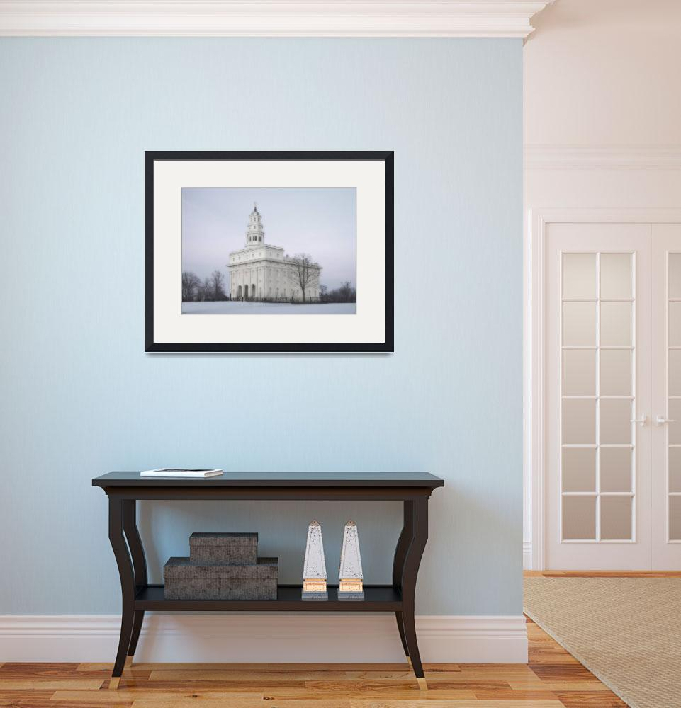 """Nauvoo Temple Large-16x22-tinted&quot  by TerrySpringer"