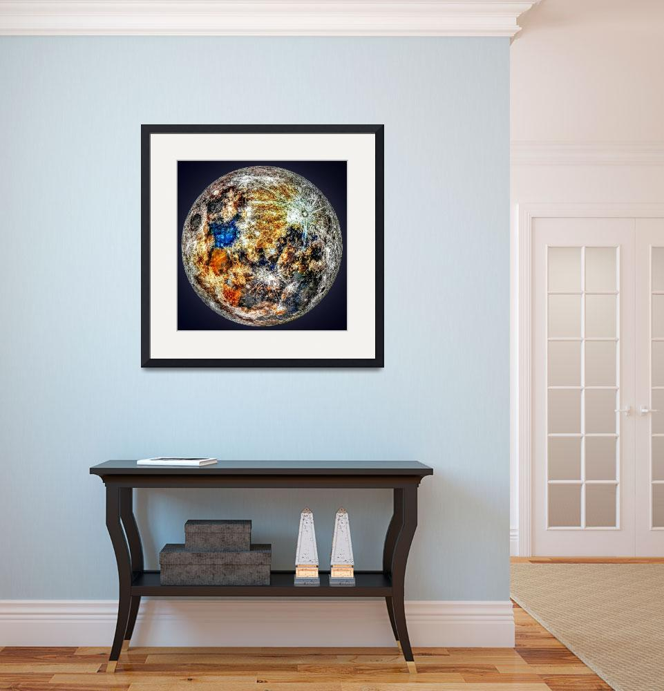 """""""A Mineral Map of the moon&quot  by cosmic_background"""