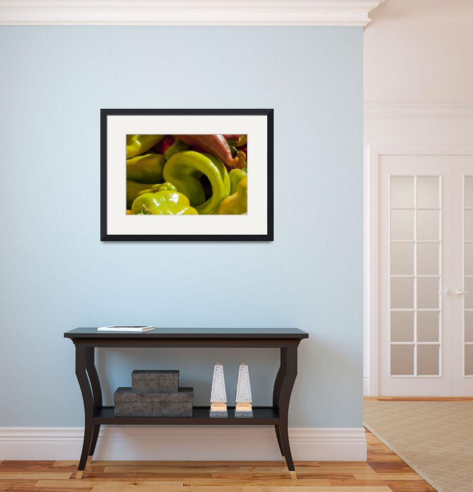 """""""Home Grown Bell Peppers I&quot  (2009) by SederquistPhotography"""