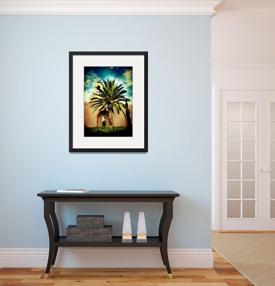 """Newport Temple Palm Color""  (2007) by LDSTempleArt"