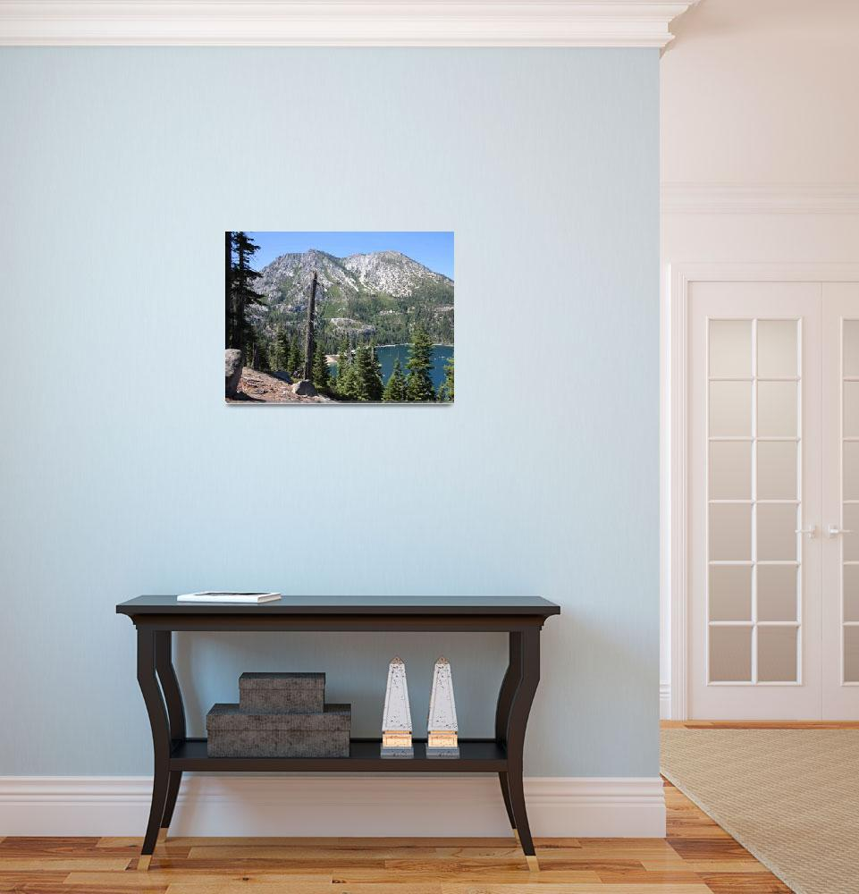 """""""Emerald Bay with Mountain&quot  (2009) by Groecar"""