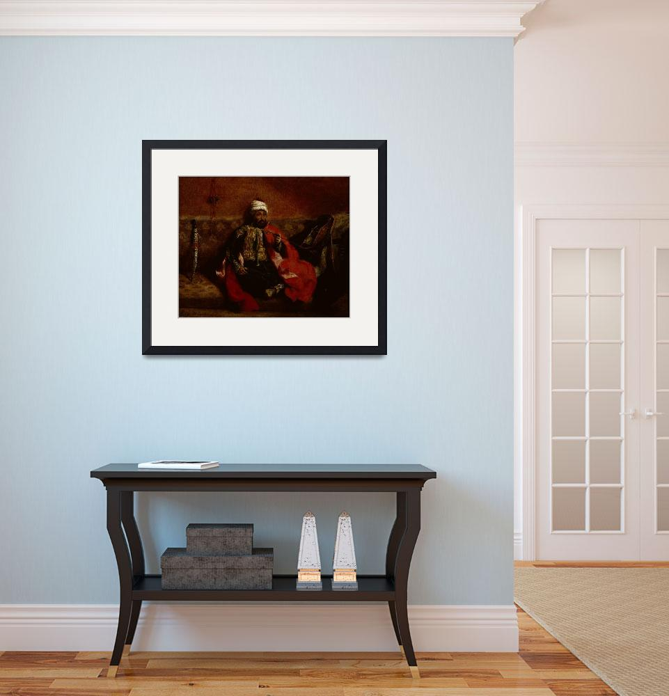 """""""A Turk smoking sitting on a sofa by Delacroix&quot  by fineartmasters"""