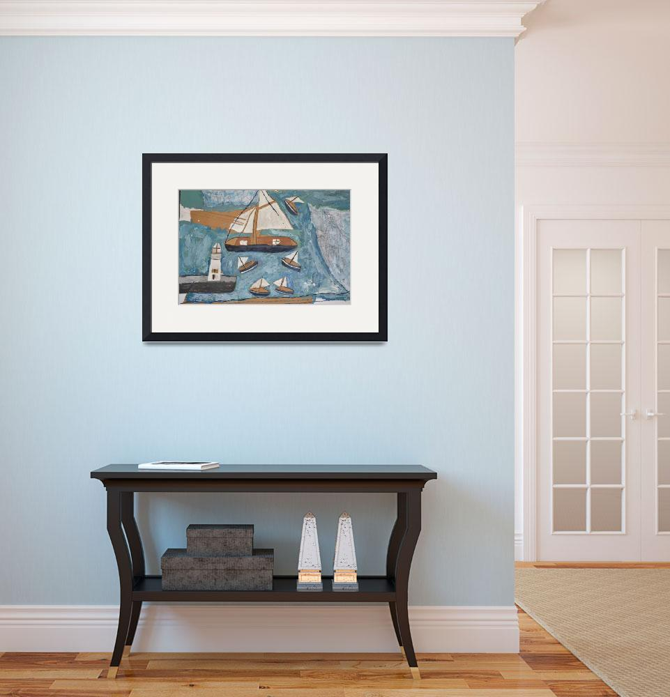 """Alfred Wallis Art Framed Print&quot  by buddakats1"