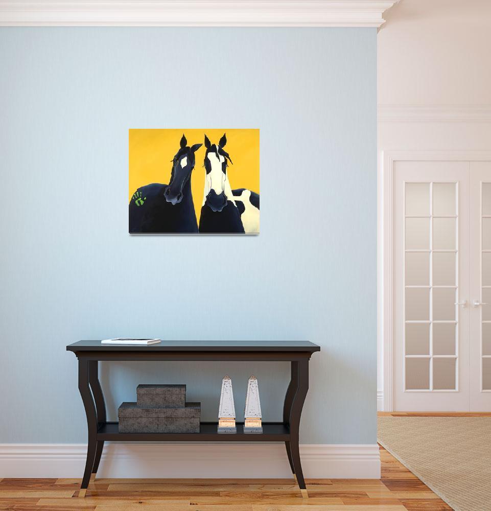 """""""Painted Ponies""""  (2004) by LeslieAnneWebb"""