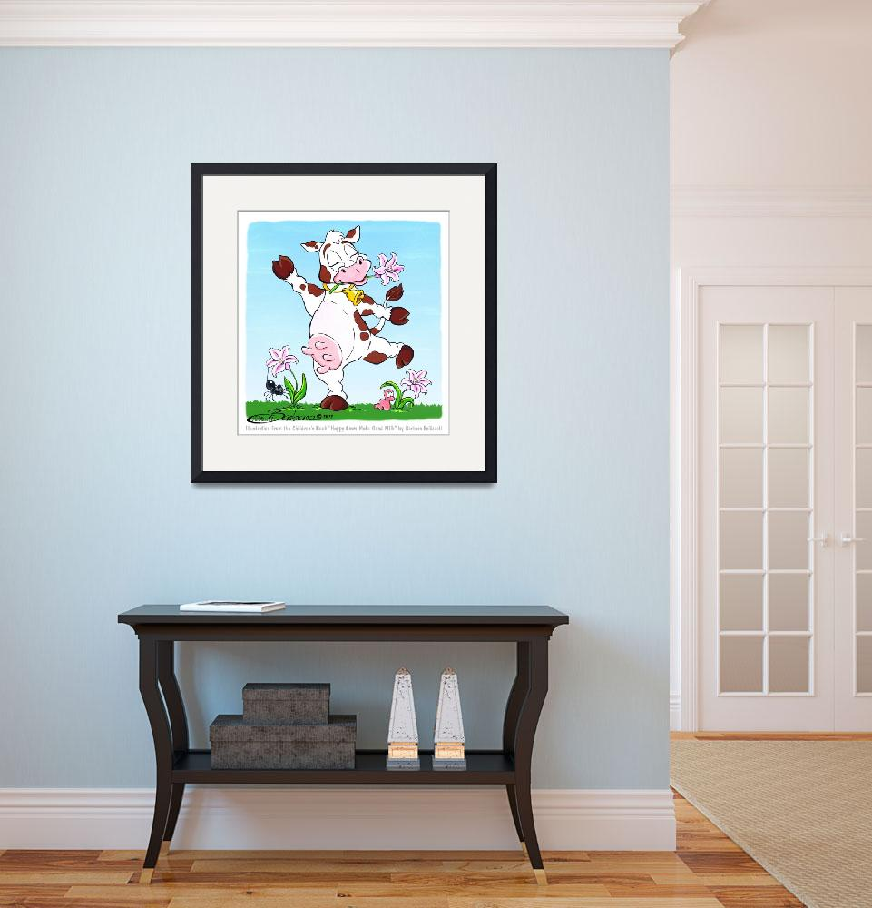 """""""Lily is a Happy Cow&quot  (2012) by BarbaraPelizzoli"""