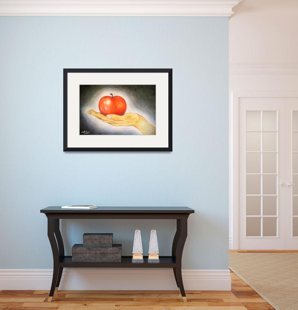 """""""apple in hand""""  (2006) by AmyQueen"""