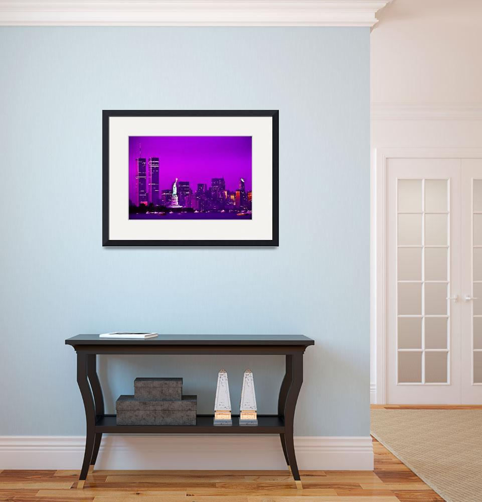 """""""World Trade Center and Statue of Liberty from Bayo""""  by Zilberman-Sands"""