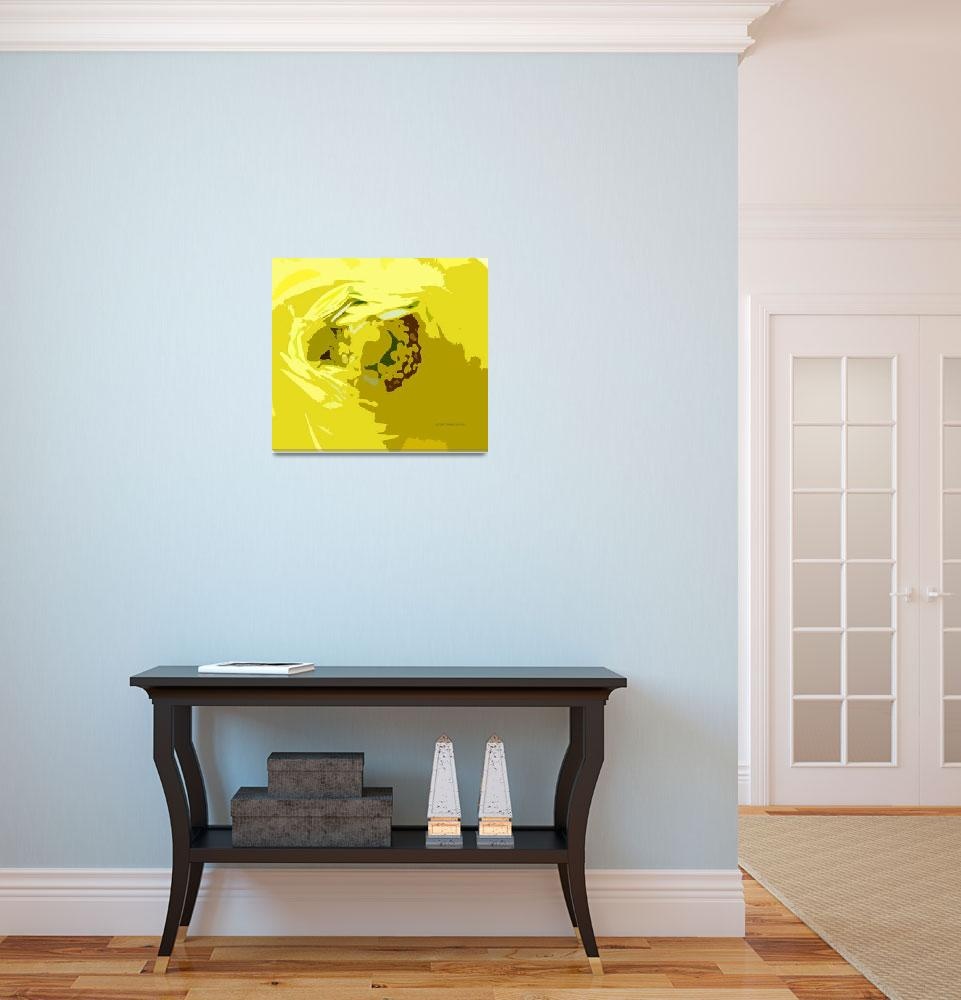 """""""Yellow Flower Cutout&quot  (2013) by Lucine"""