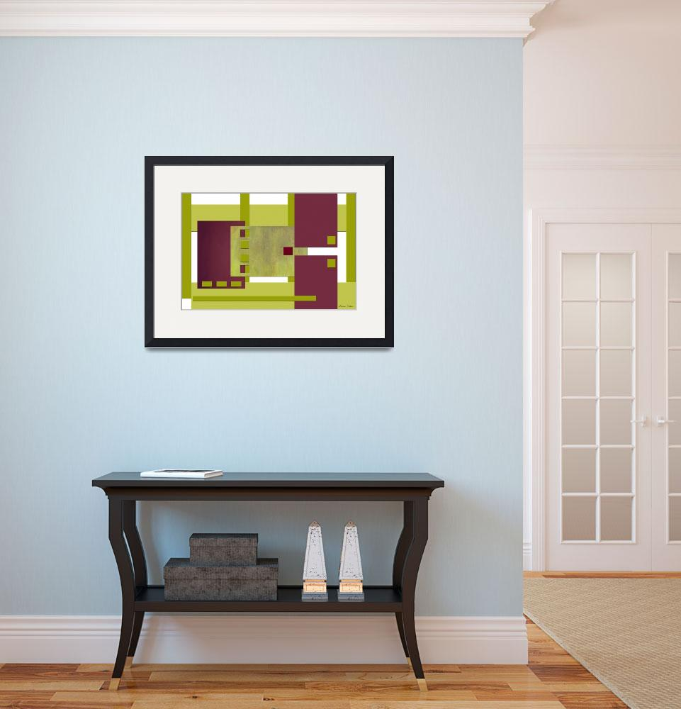 """""""Buildings In Abstract&quot  (2012) by Lawrence"""