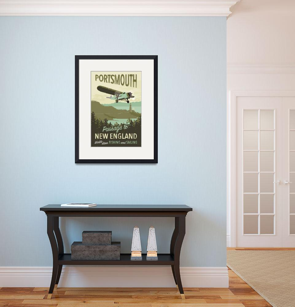 """""""Portsmouth Travel Poster&quot  (2016) by blue67sign"""