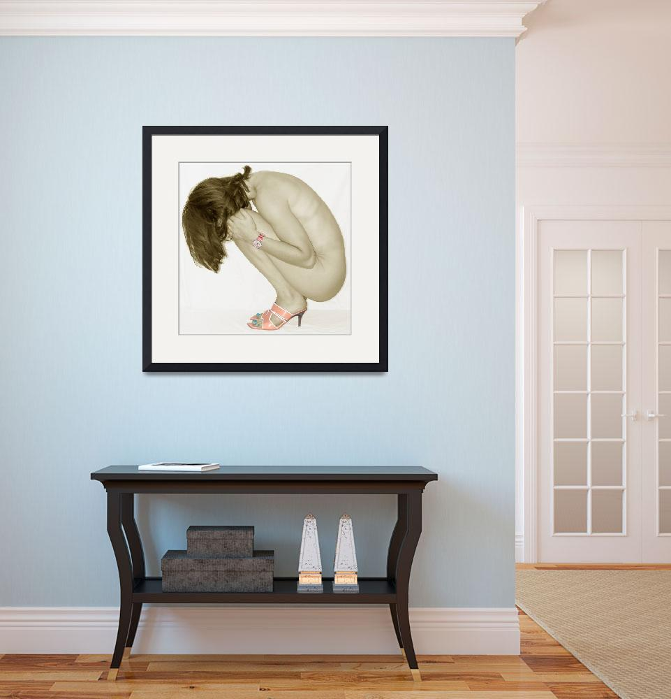 """""""Crouching Nude""""  (2003) by NUDE"""