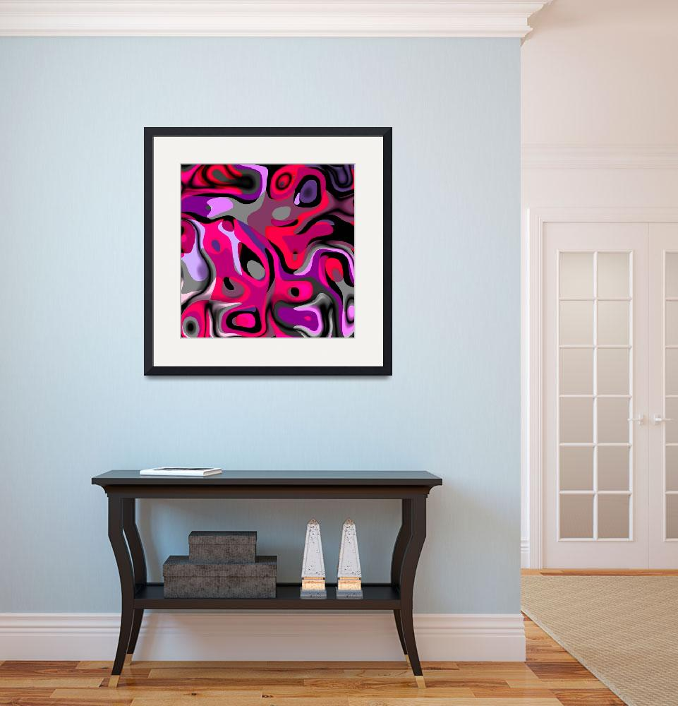 """ZIZZAGO Art Abstract Multi Color World""  (2010) by shanmaree"