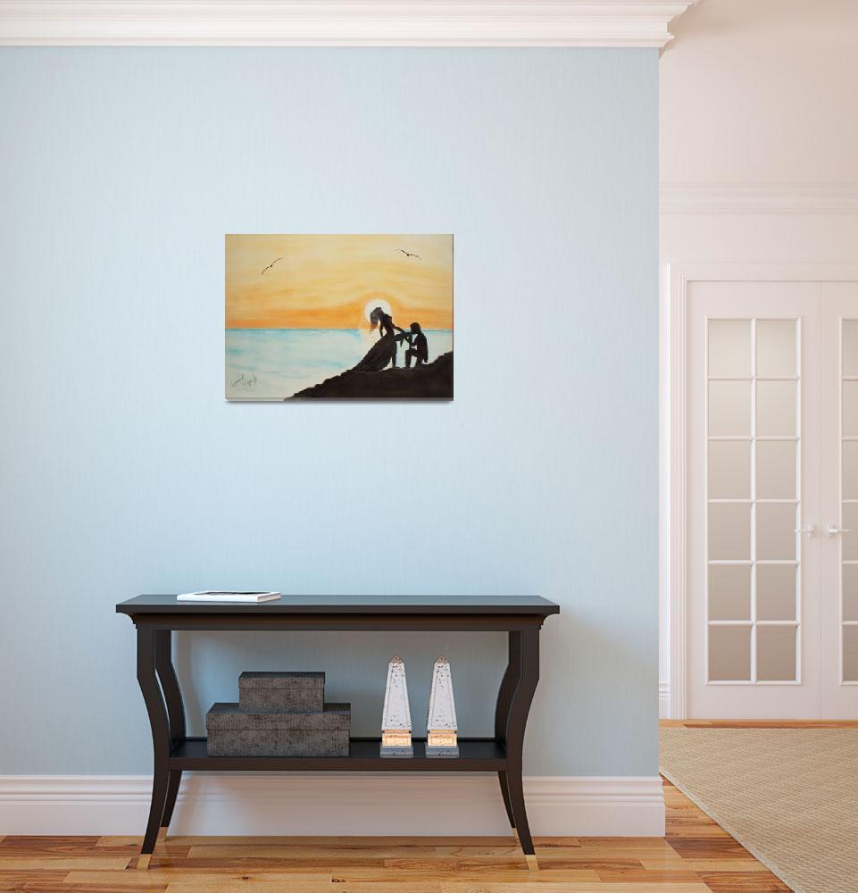 """Sweet Summer Sunset- 18x24 Pastels""  (2009) by EdmondHogge"