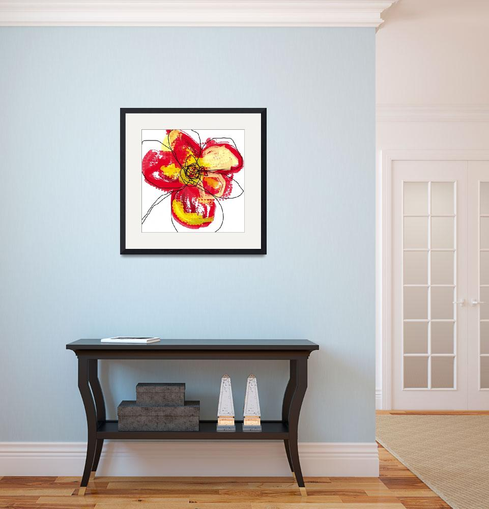 """""""Red Butterfly Flower&quot  (2008) by TuesdayMoon"""