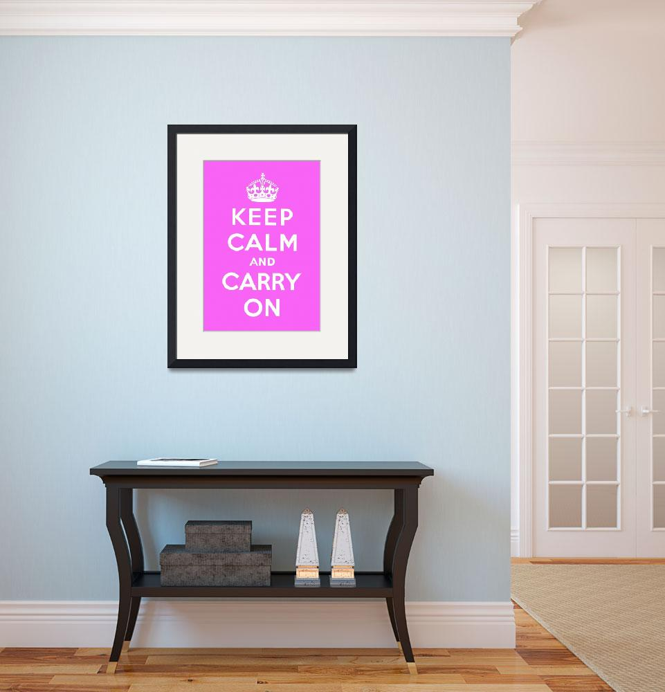 """""""Purple Keep Calm And Carry On 9&quot  by oldies"""