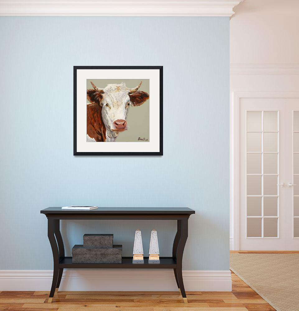 """""""Red Cow&quot  (2013) by BrettHudsonArt"""