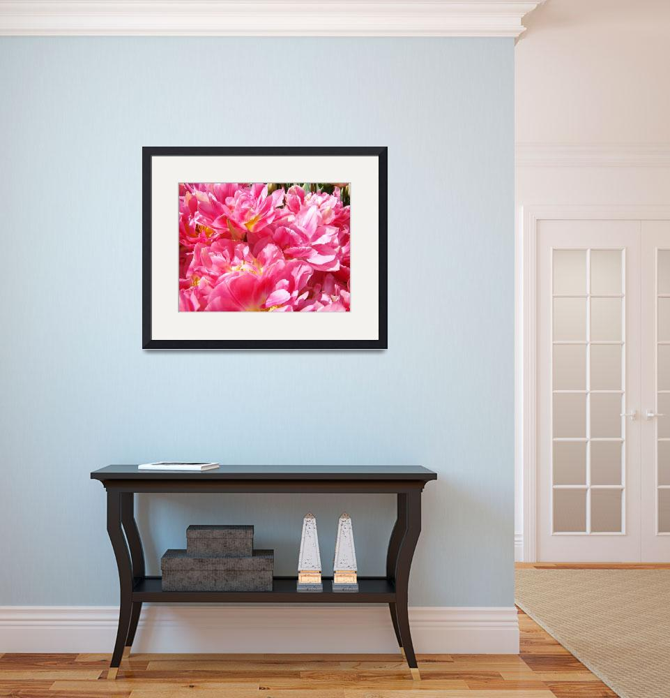 """Pink Pastel Tulips Flowers Art Prints Spring&quot  (2014) by BasleeTroutman"