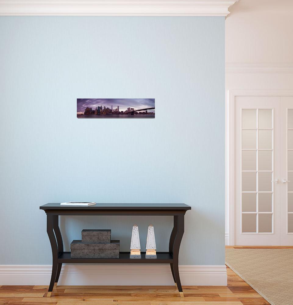 """New York City Panorama""  (2014) by sensorfleck"