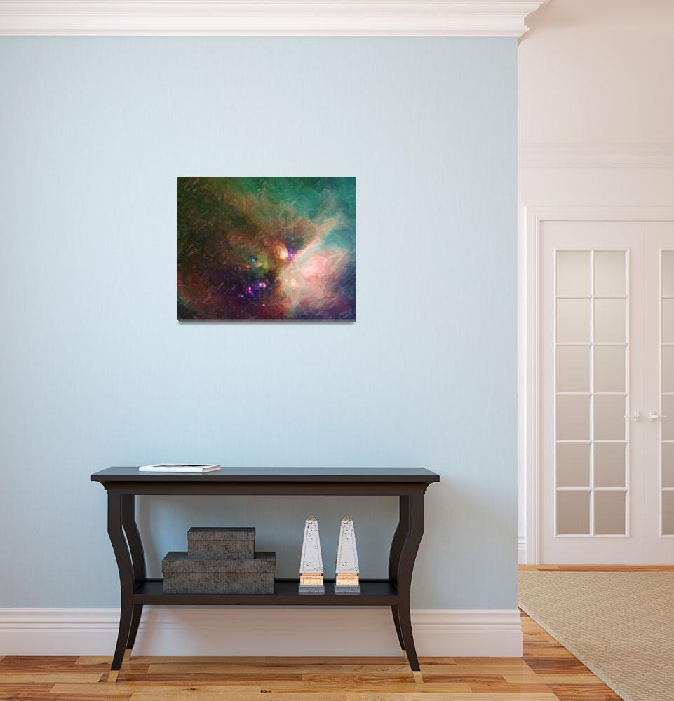 """""""Abstract Nebulla with Galactic Cosmic Cloud 44 med&quot  by motionage"""