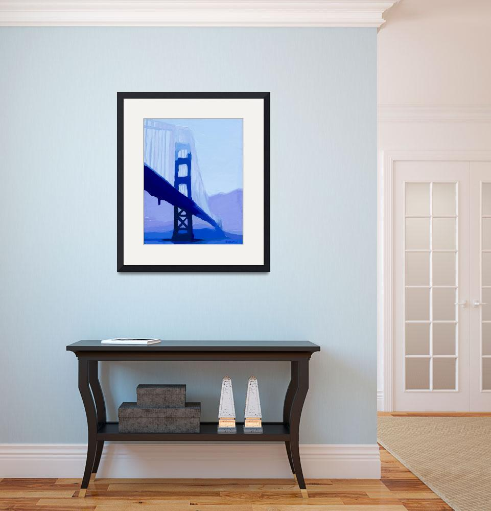 """Blue Saphire Gate Bridge&quot  (2013) by russwagnerart"