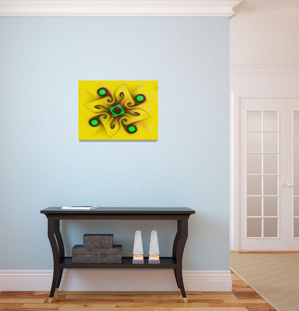 """yellowgnarl""  by fractalartvicky"