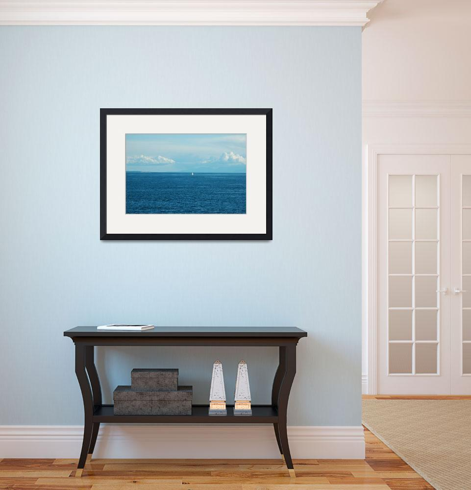 """""""Lone Sailboat""""  (2013) by netbrands"""