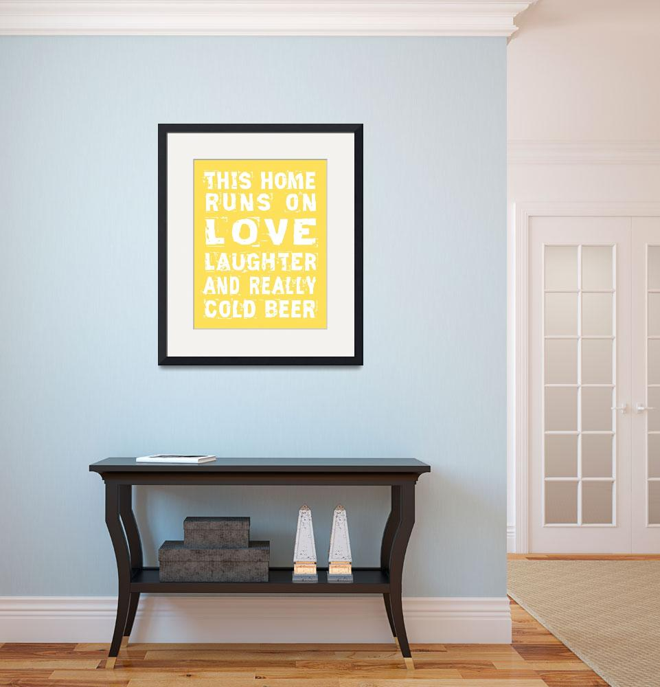 """""""Love and Cold Beer Poster&quot  (2011) by designsbyjaime"""